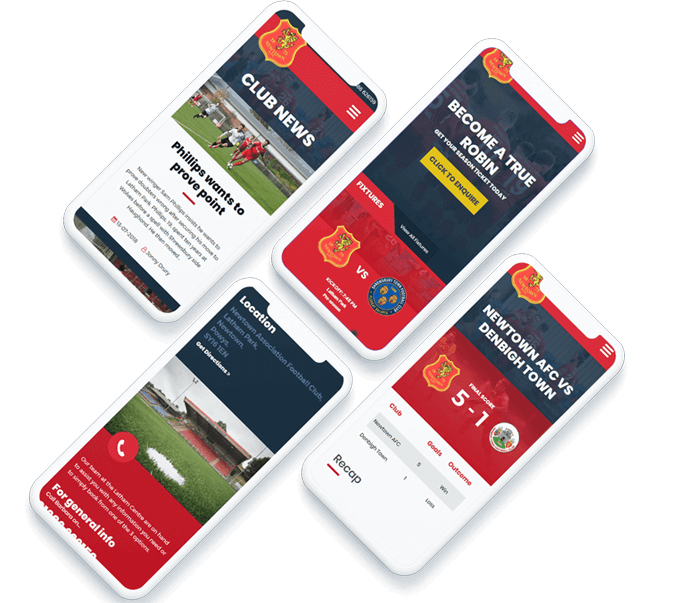 Resonsive web design for Newtown AFC